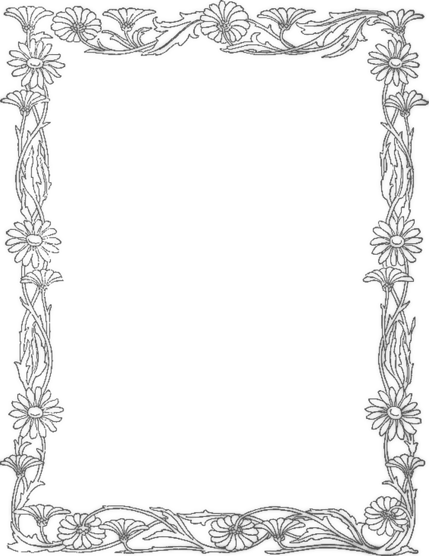 Daisy Border Page Frames Floral Daisy Border Png Html