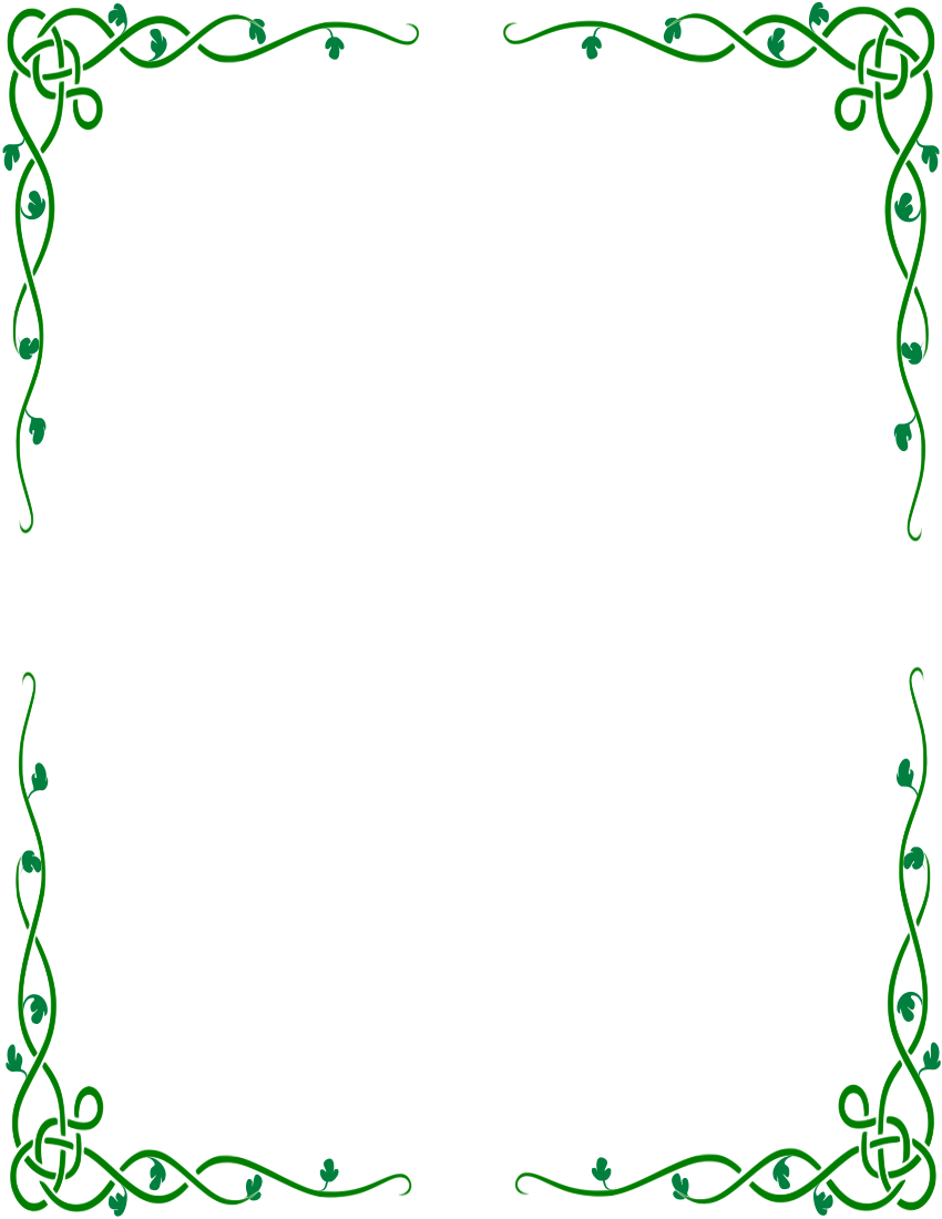 Simple Green Vine Border