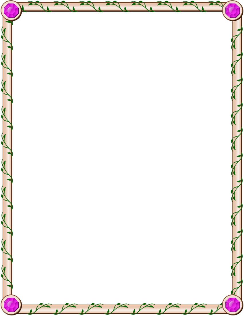 jeweled ivy page frame border - http://www.wpclipart.com ...