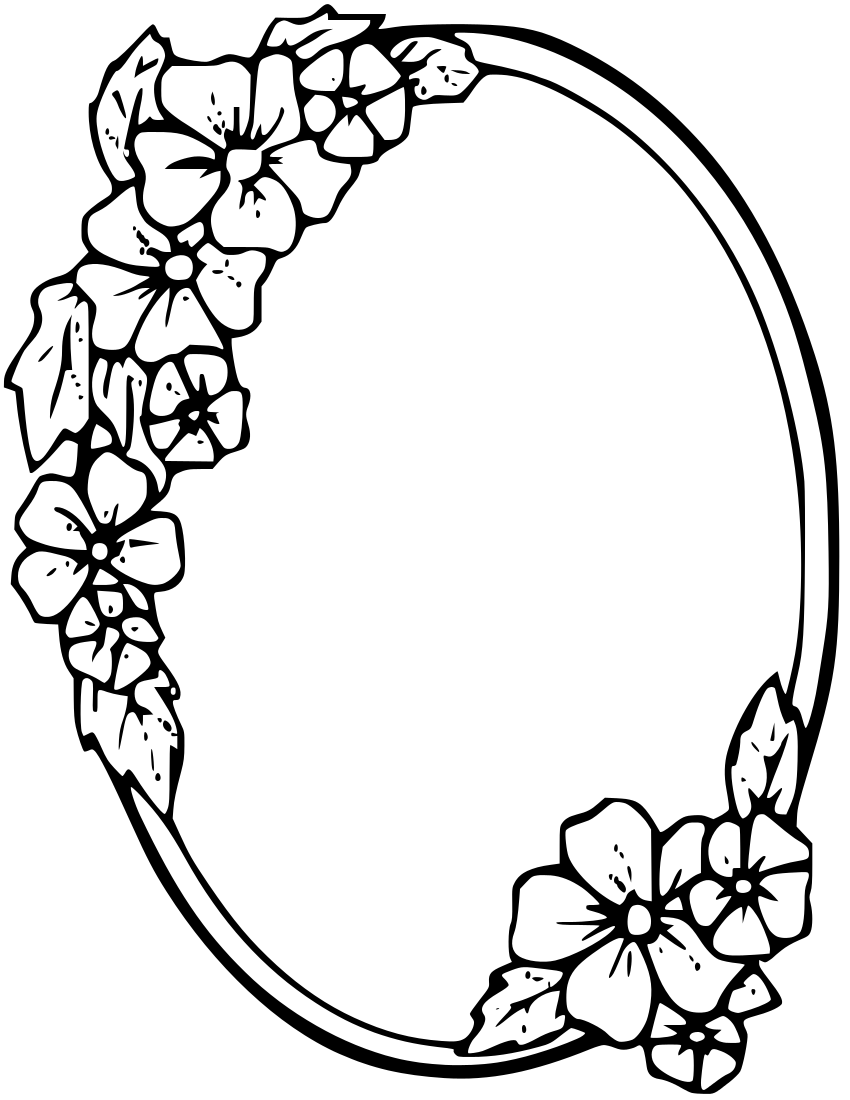 Free Floral Border Coloring Pages