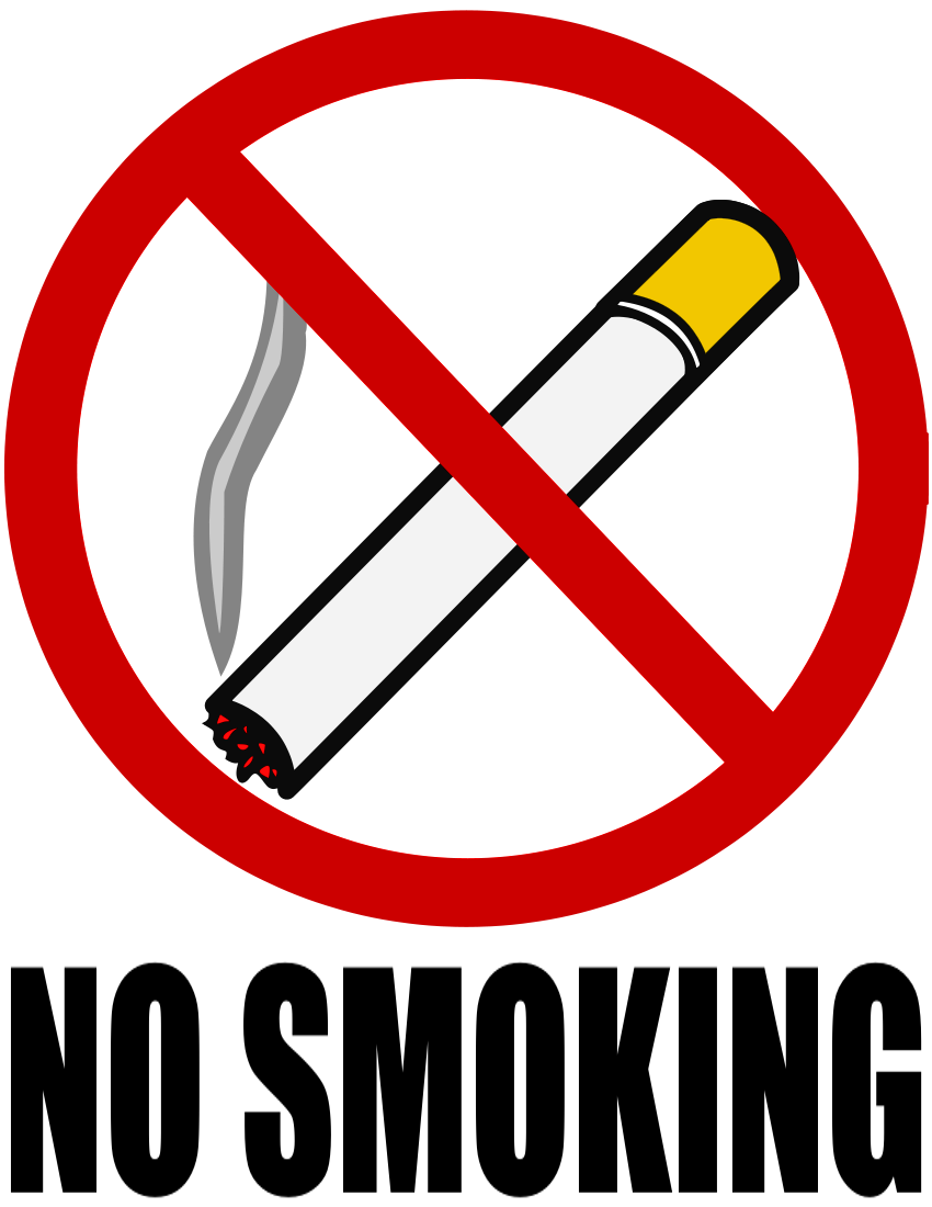 No Smoking page