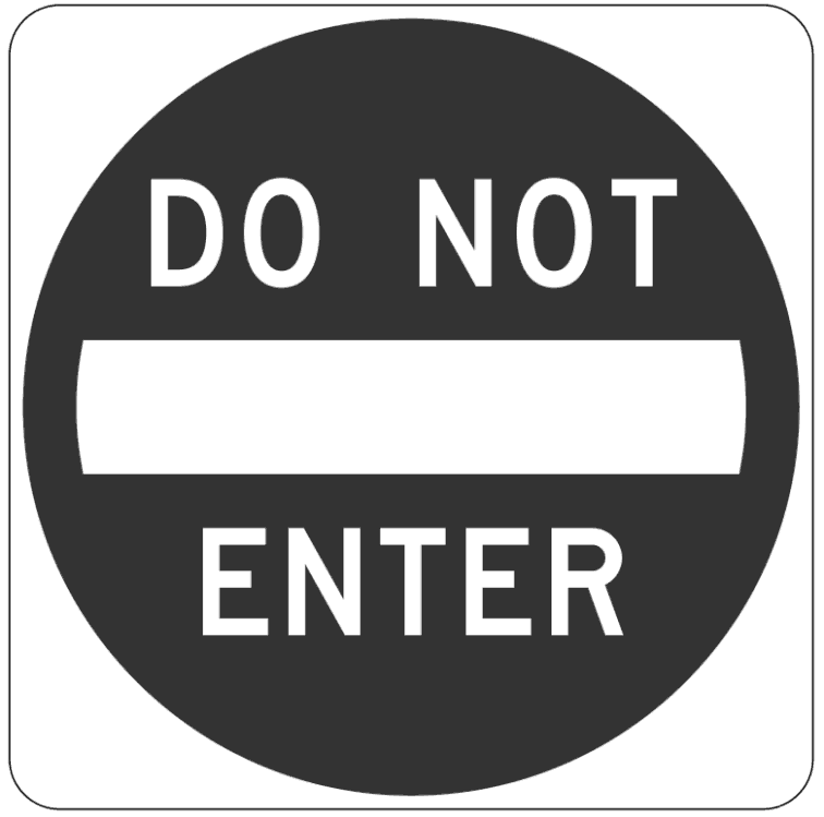 not enter page frames full page signs traffic signs 2 do not enter
