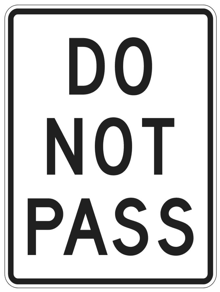 do not pass page pageframesfullpagesignstraffic