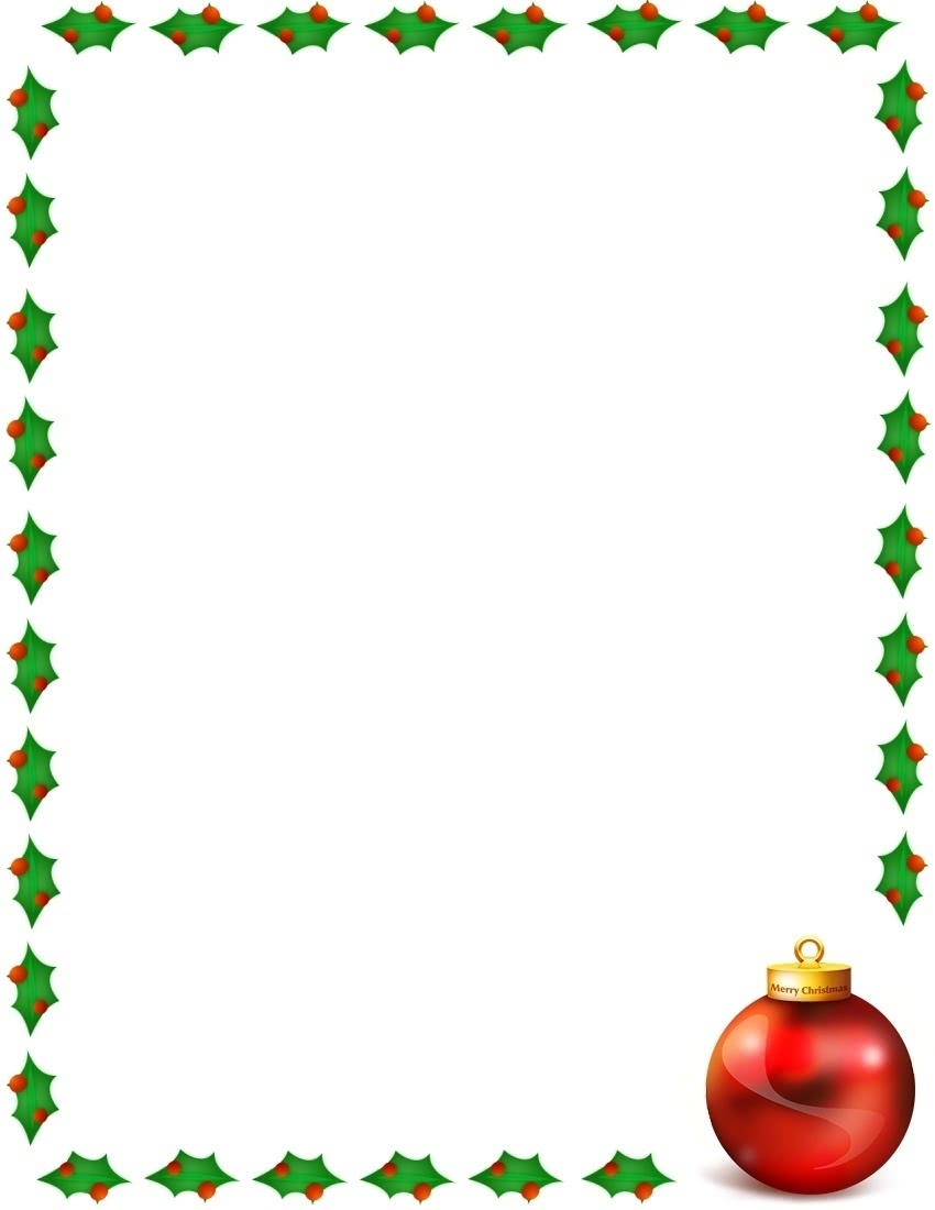 Merry Christmas Border Page Page Frames Holiday