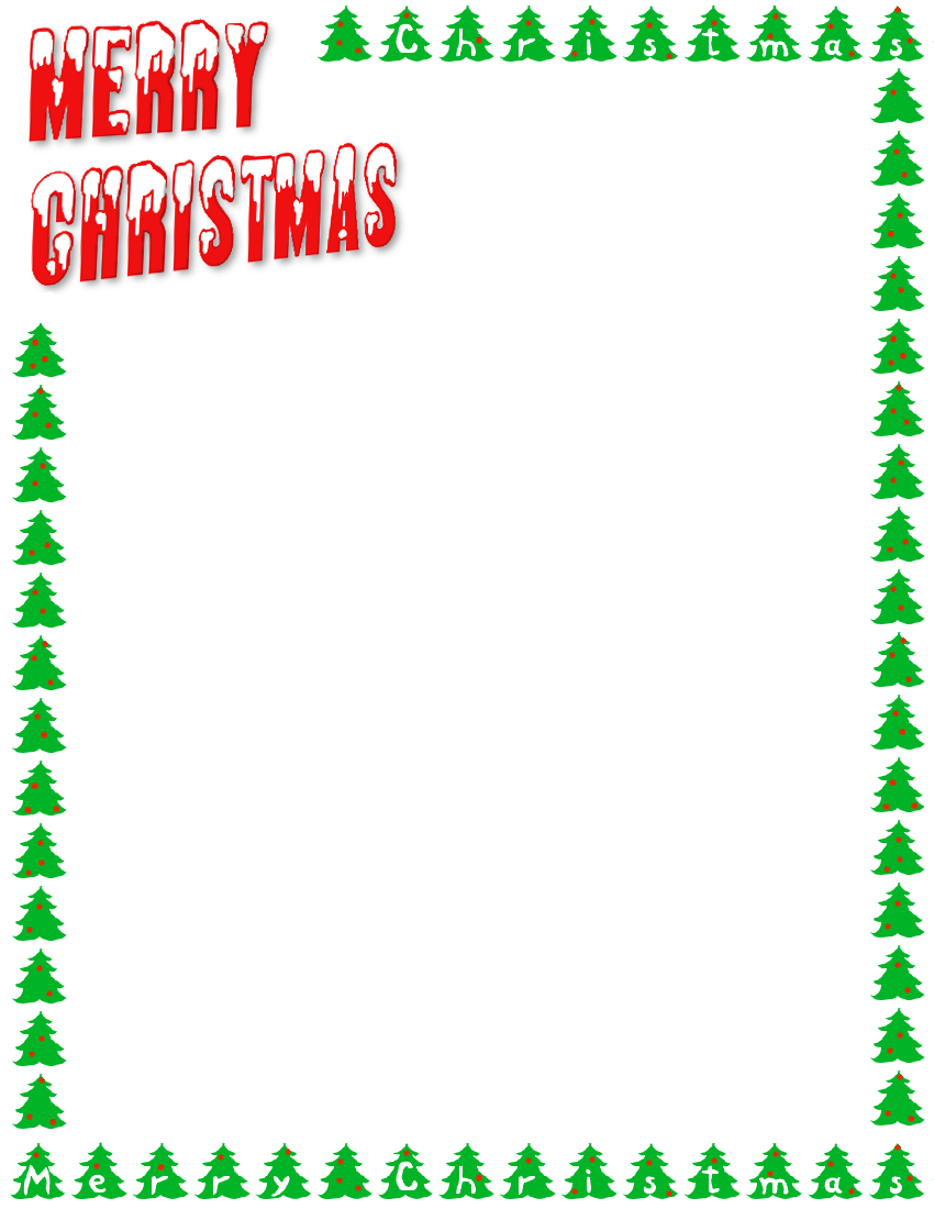 Merry Christmas letters and trees - /page_frames/holiday/Christmas ...