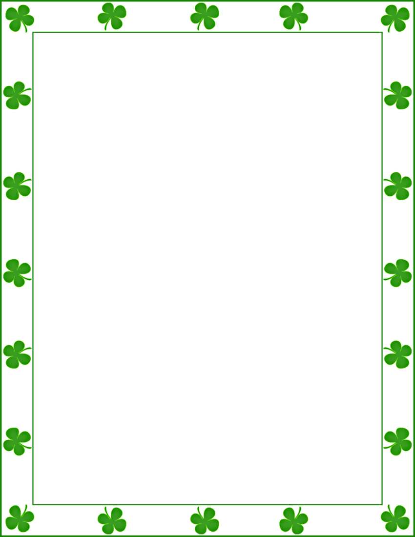 850 x 1100 · 94 kB · png, St. Patrick's Day Border Clip Art