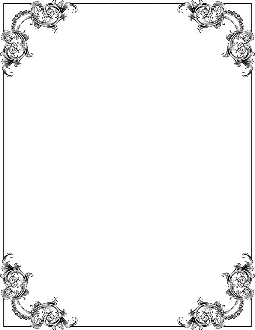 Ornate corners frame page frames old ornate borders for Picture frame corners