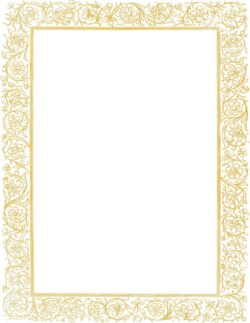 Victorian Floral Border Gold
