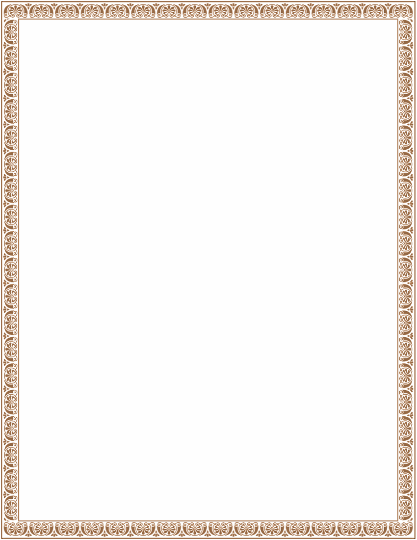 Victorian ornamental border brown page frames old ornate borders
