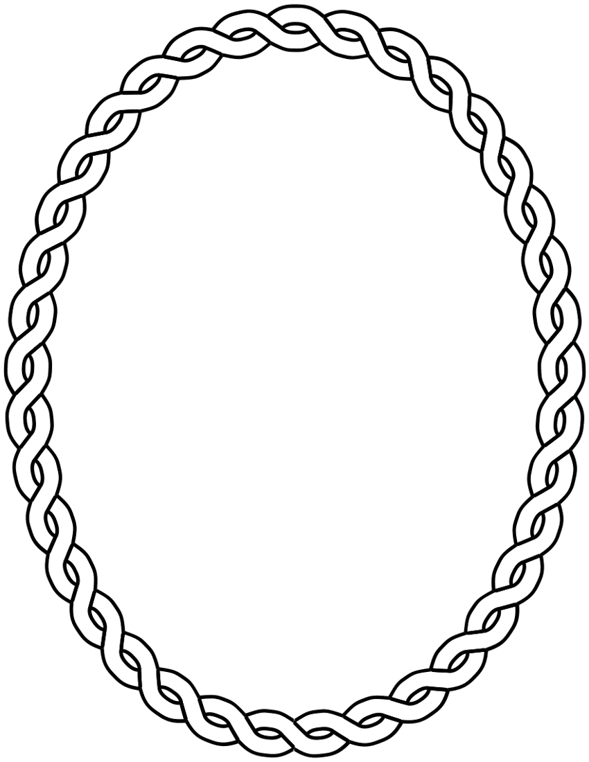 Oval Clip Art Borders and Frames