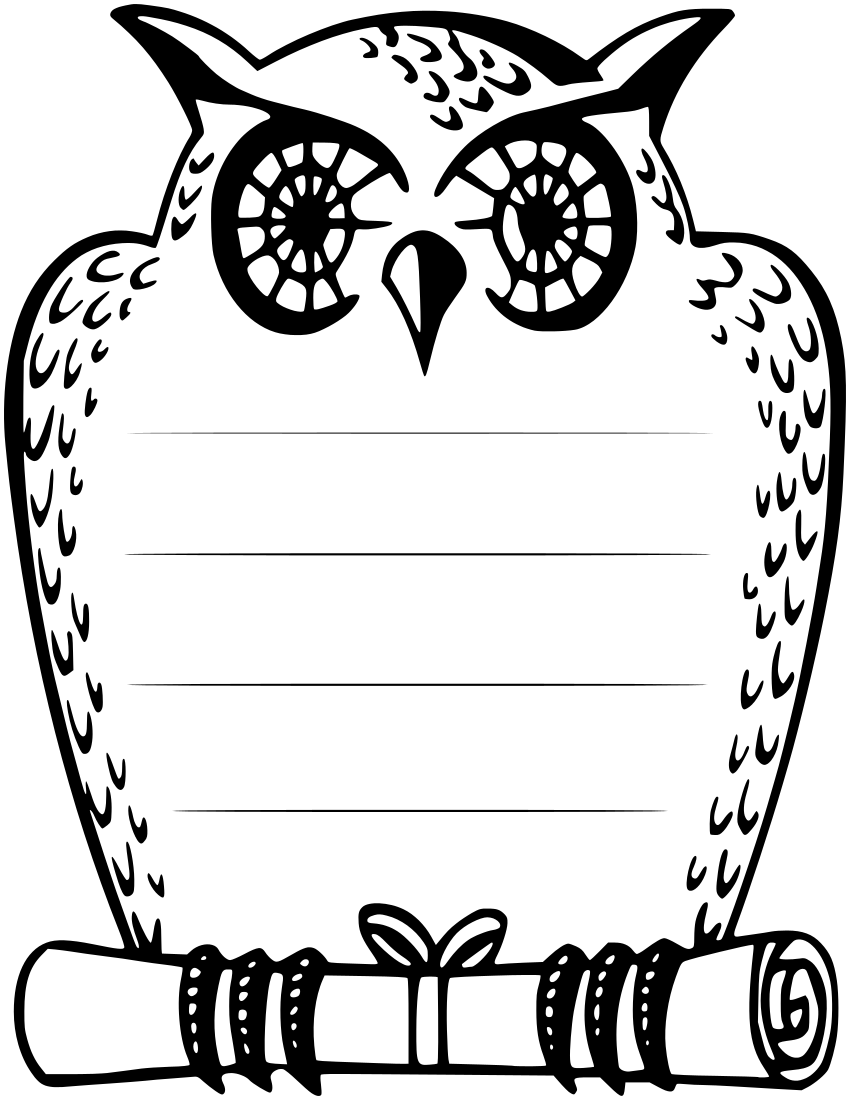 owl note page - /page_frames/school/owl_note_page.png.html