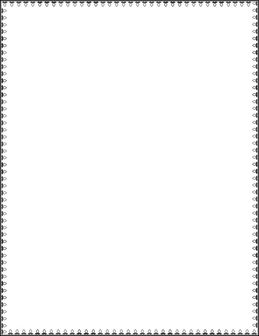 Simple Border Frames Clip Art #4