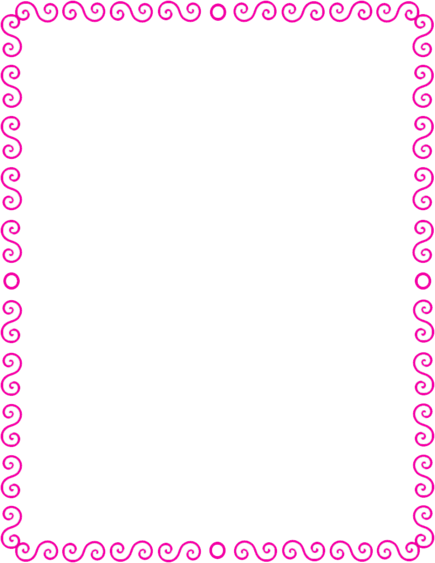 Pink Page Border Clip Art