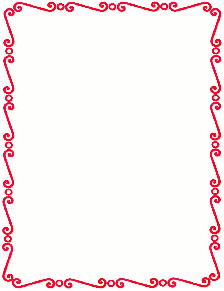 red spirals border - /page_frames/spiral_border/red ...