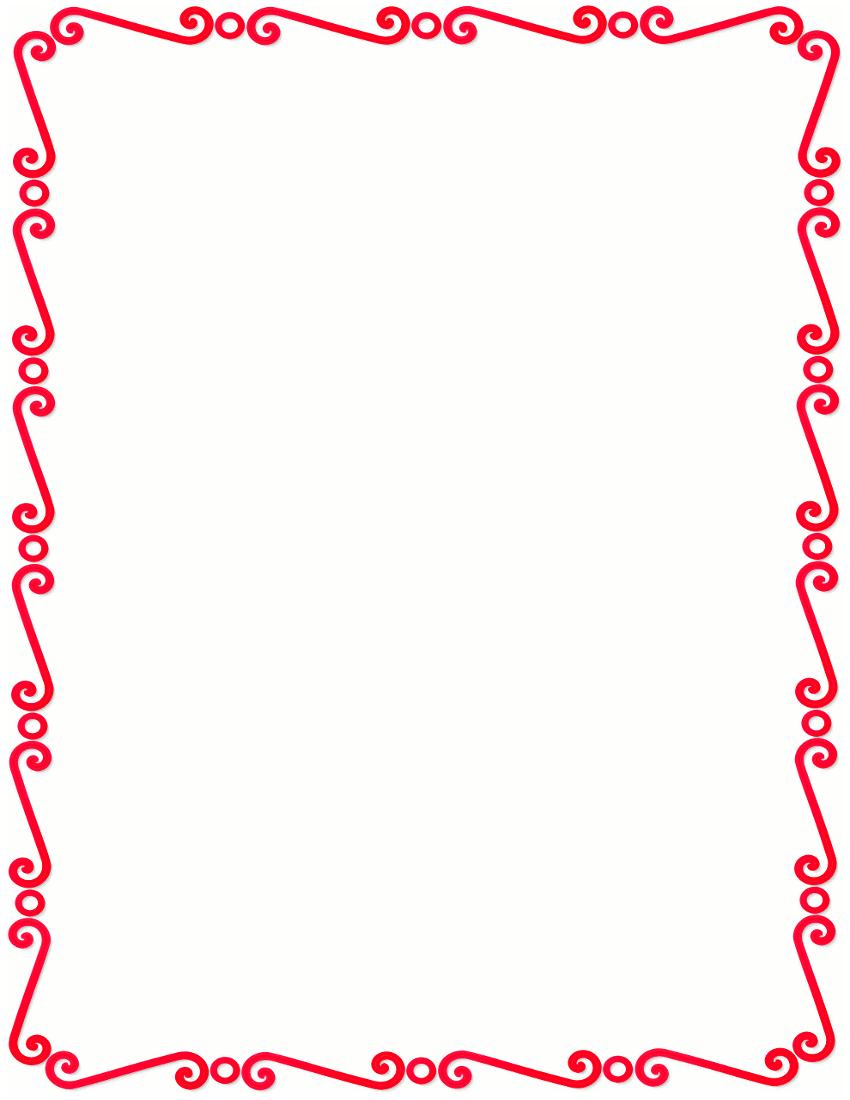 Red Spirals Border Page_framesspiral_borderred_spirals_border Png