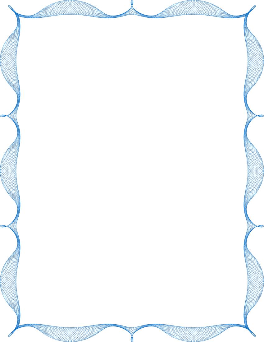Spiro Frame Blue Page Frames Spiral Border Spiro Spiro