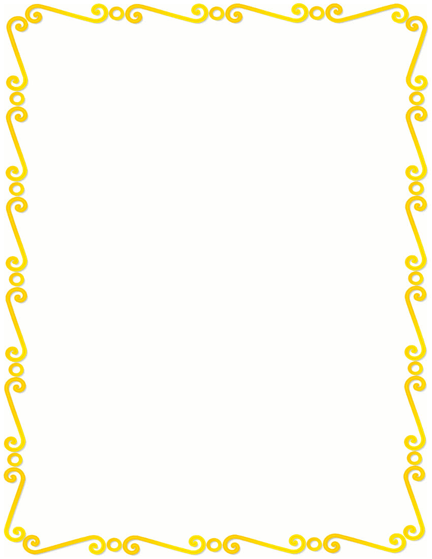 yellow frame clipart - photo #19