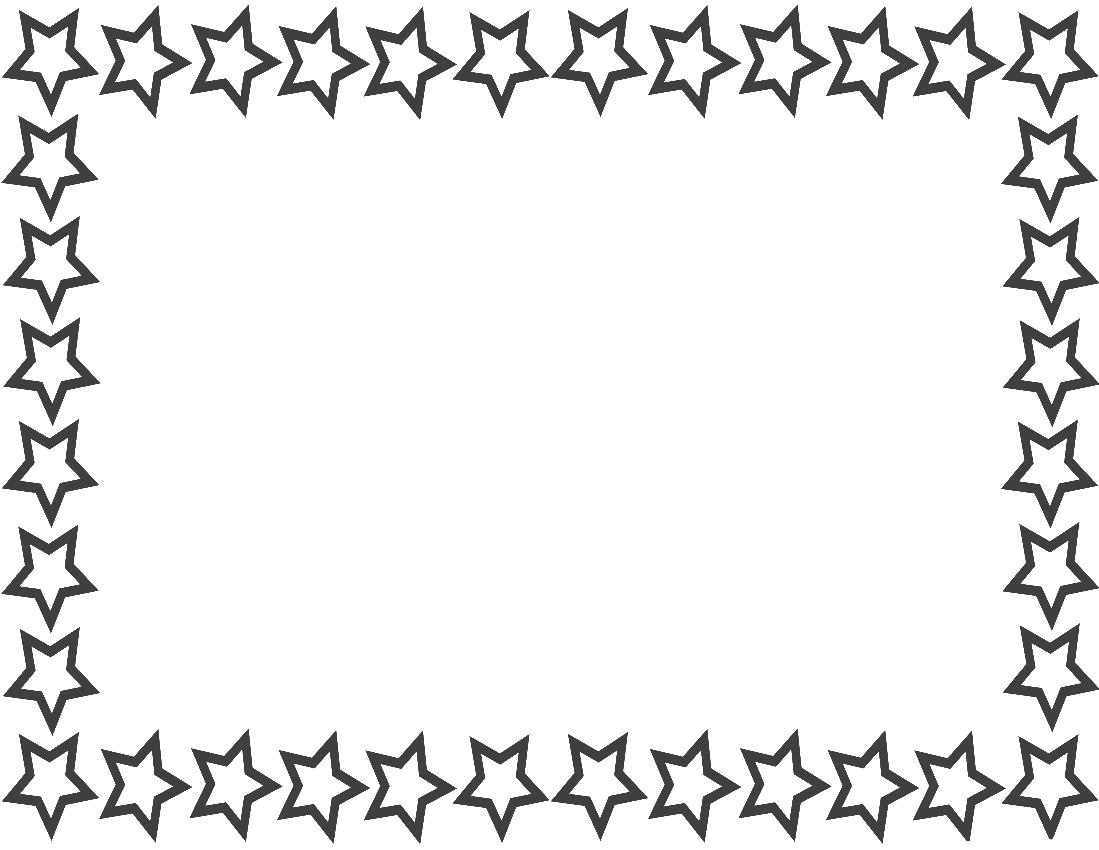 Star Border Page Navy pageframesstarborderstar