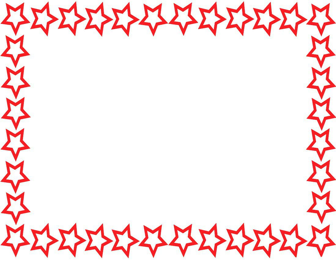 Star Border Page Red pageframesstarborderstar