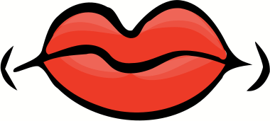 CLOSED MOUTH - public domain clip art image