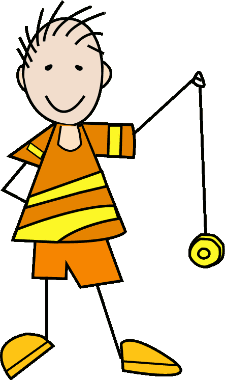 BOY WITH YO YO - public domain clip art image