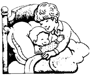 MOM HUG - public domain clip art image