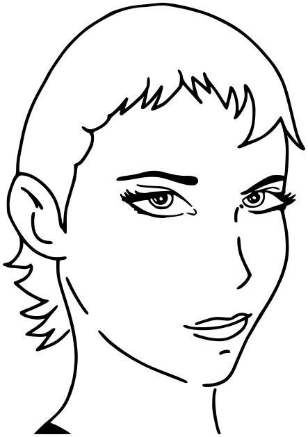 Hair style pic art