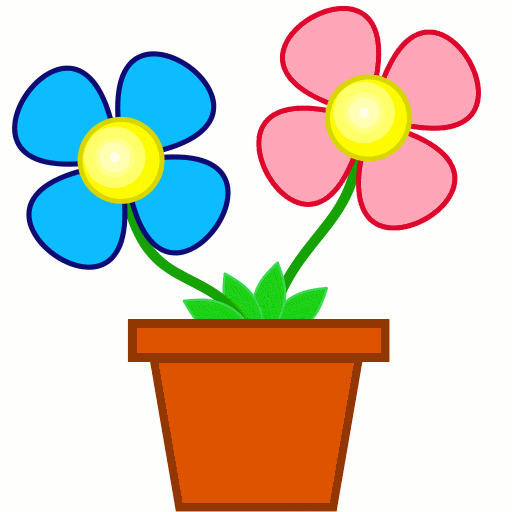 flowers clip art pictures. bright flowers in planter