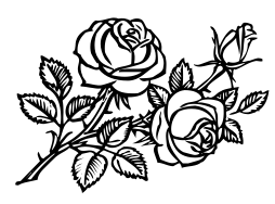 roses bw clipart   plants  flowers   r  rose  rose lineart white rose clip art on luther's seal white rose clip art images