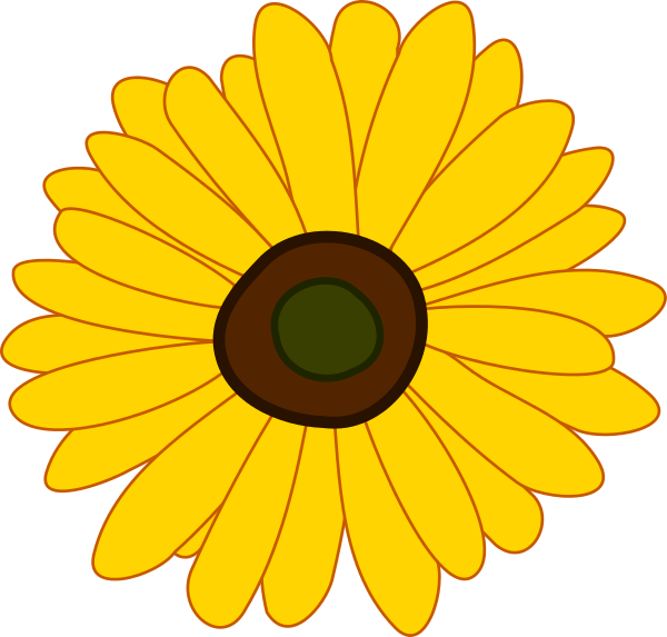 free clip art sunflower. sunflower clipart
