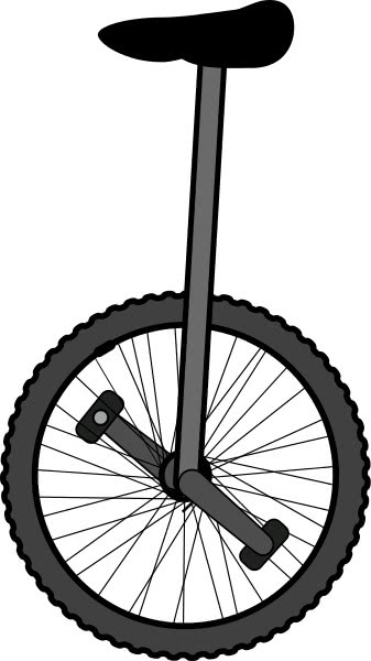 how to sit on a unicycle