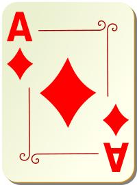 Ornamental Deck Ace Of Diamonds Recreation Games Card
