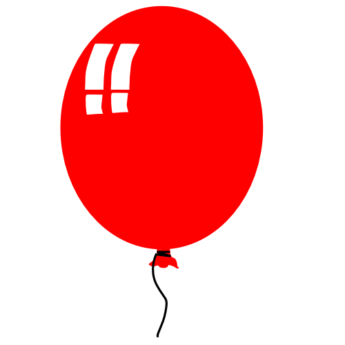 Party Balloons Clip Art. balloon fat red