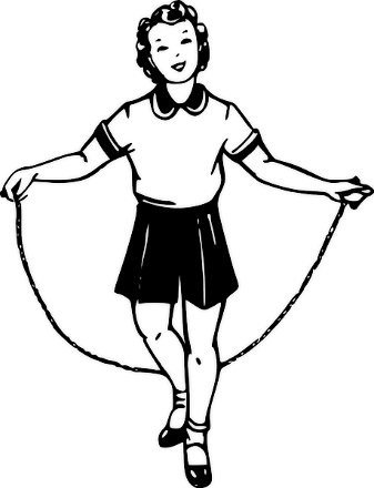 jump rope clip art. girl with jumprope