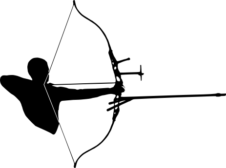 archer silhouette   recreation  sports  archery  archer archery clip art free archery clipart images silhouette