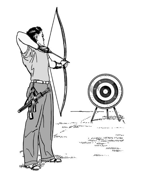 Archery Bw Recreation Sports Archery Archery Bw Png Html