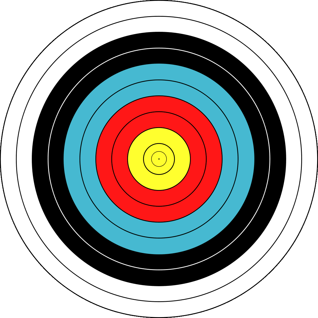bullseye template printable - archery fita official target recreation sports archery