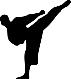 karate silhouette   recreation  sports  martial arts  karate karate clipart free small karate clip art border images