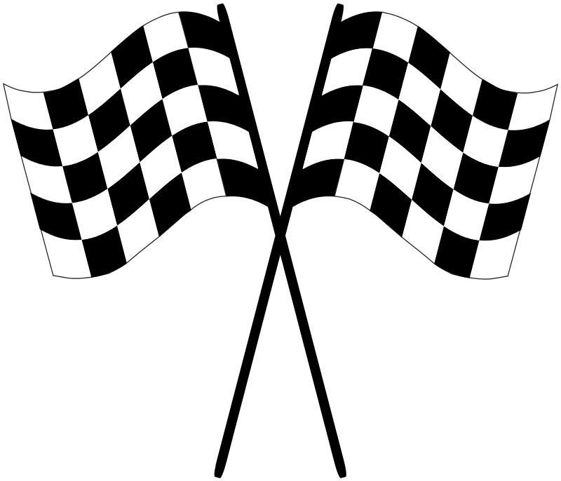 checkered racing flags   recreation  vehicles  racing racing clip art straight track racing clipart images