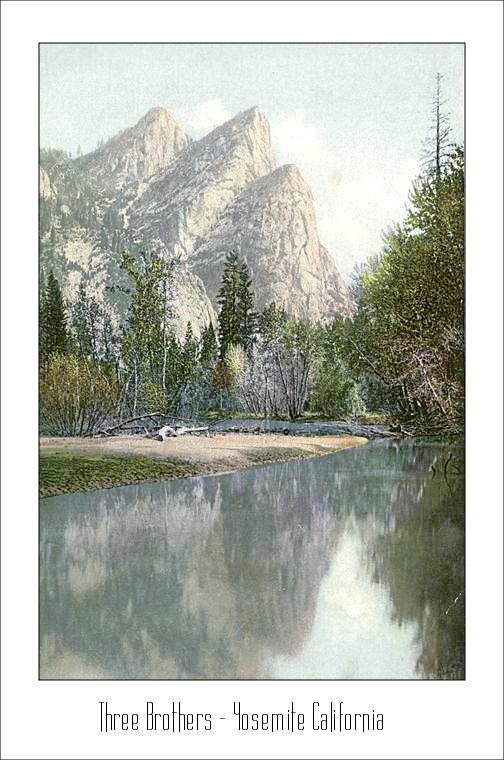 Three Brothers  Yosemite Calironia