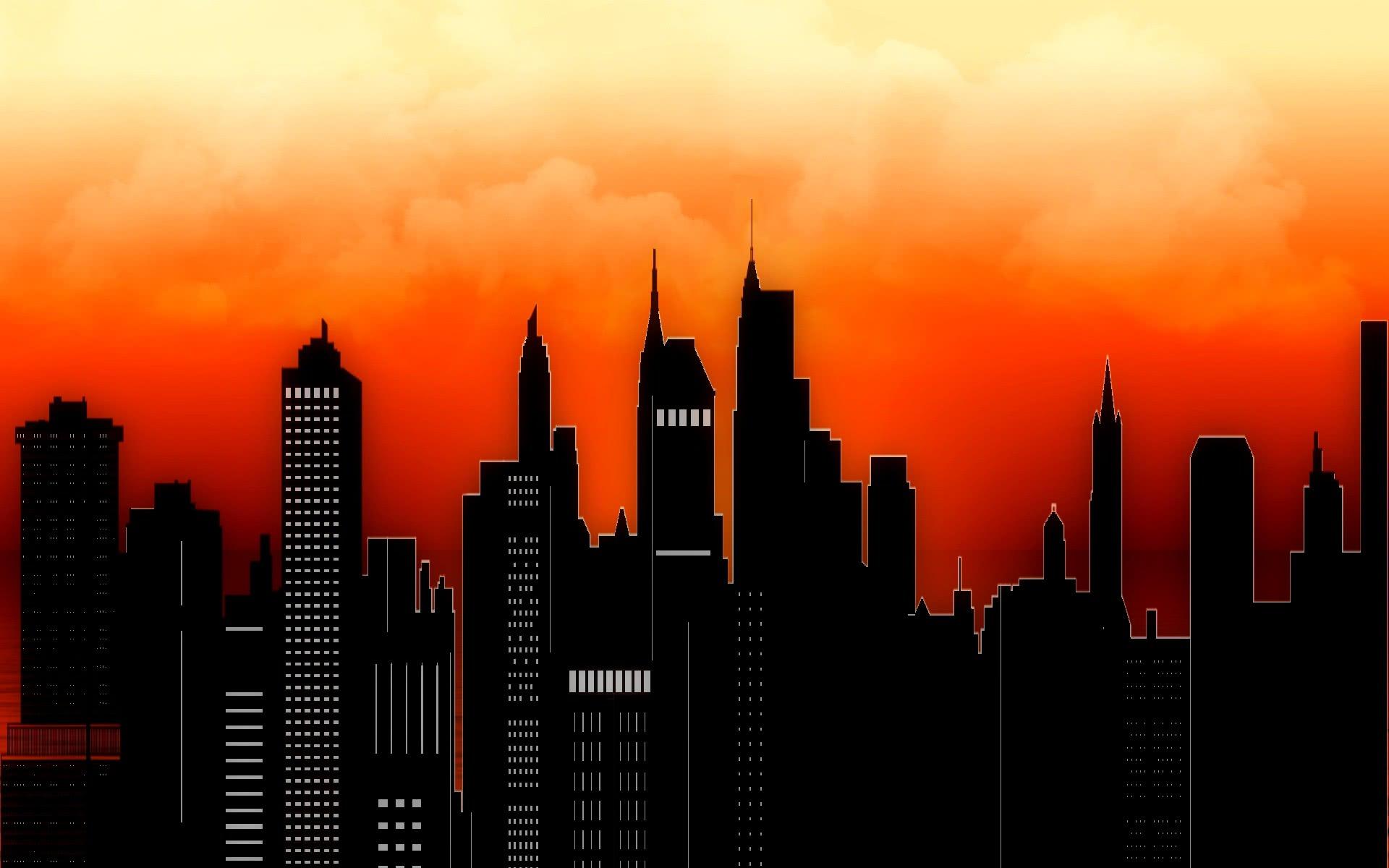 city skyline sunset  scenic  wallpaper  city  city skyline sunset jpg html