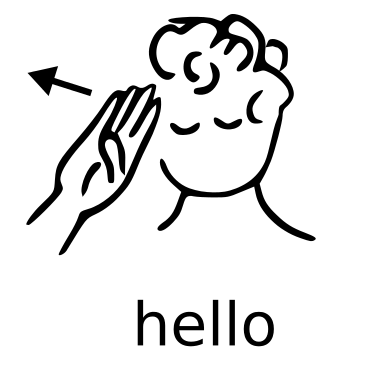 how to say hi in sign language