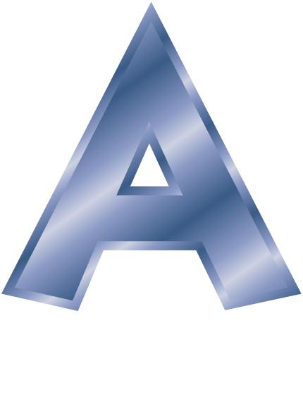 blue steel letter capitol A - /signs_symbol/alphabets ...