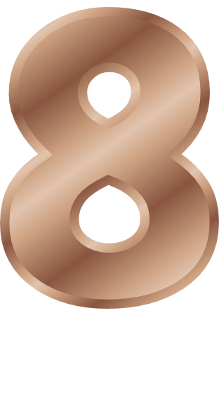 bronze number 8   signs symbol  alphabets numbers  bronze number clipart black number clipart png