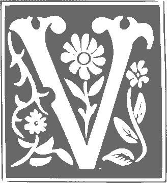 decorative letter V - /signs_symbol/alphabets_numbers/decorative_set_1 ...