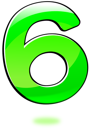 number 06   signs symbol  alphabets numbers  glossy numbers numbers clip art free number clipart free