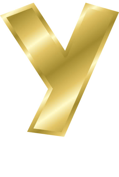 y letter in gold - photo #11