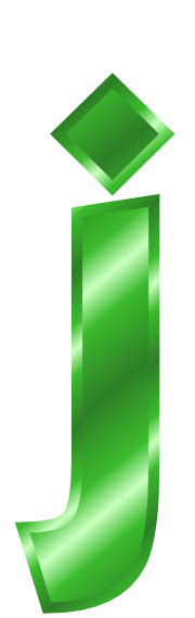 green metal letter j - /signs_symbol/alphabets_numbers ...