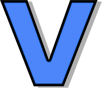 A Alphabet Images lowercase V blue - /si...