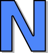 capitol n blue   signs symbol  alphabets numbers  outlined letter clip art fonts letter clip art images
